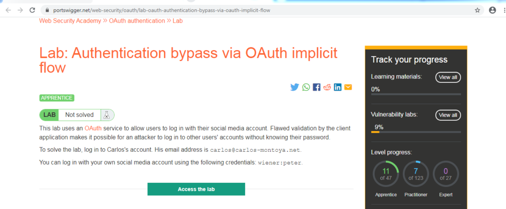 OAuth 2.0 authentication
