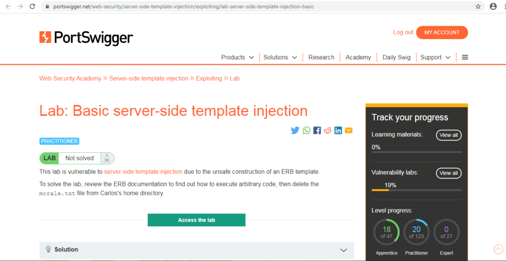 Server Side Template Injection Payloads